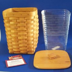 Longaberger Large Spoon Basket Woodcrafts Lid Plastic Protector  11258 #Longaberger