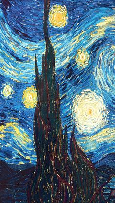 ✨I love Vincent Van Gogh. He's been my favorite artist since I first saw the Starry Starry Night painting in grade art class. He is inspiring and I wish he lived longer to create more amazing pieces. Van Gogh Wallpaper, Painting Wallpaper, Wallpaper Backgrounds, Iphone Wallpaper, Starry Night Wallpaper, Van Gogh Art, Van Gogh Paintings, Famous Art, Vincent Van Gogh