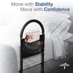 Bed Assist Bar by Medline®  The Bed Assist Bar offers added stability for greater confidence and peace of mind for you or your loved one.  It is also ideal when recovering from knee surgery or hip replacement, coping with a bad back or managing arthritis.