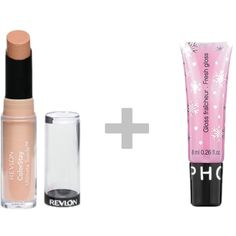 perfect nude lip for cheap! Revlon  colorstay ultimate suede lipstick paired with a clear gloss. I have super fair skin and this color is perfect for me.