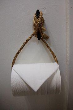 Nautical Toilet Paper holder - sailboat interior