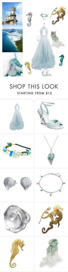 """Princess of The Sea"" by blackmagicmomma ❤ liked on Polyvore featuring Menbur, La Preciosa, Bling Jewelry, NOVICA, Hervé Van Der Straeten and Lonely Planet"
