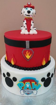 Yep, another Paw Patrol cake! The night that I finished this bad boy, I woke up at 3am and had a panic attack that I made a different character than the client had requested. Sure enough, I done go…