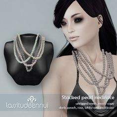 lassitude & ennui Stacked pearl necklace for Free*Style by jackalennui, via Flickr