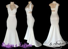 Ivory soft mermaid matric dance dress with a halter neck effect and back strap design. Matric Farewell Dresses, Matric Dance Dresses, Prom Dresses, Formal Dresses, Wedding Dresses, Prom Dance, Ivory Dresses, Halter Neck, All About Fashion