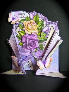 Card Gallery - Vintage Roses Lapel Gatefold Mini Kit