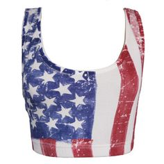 WOMENS LADIES AMERICAN FLAG USA SPORTS BRA BOOBTUBE BRALET CROP TOP 8 10 12 14 | eBay