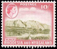Rhodesia & Nyasaland, #170, F+, MH