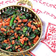 A Bengali twist on seasonal beet greens that are fresh, flavorful and very easy to make. Healthy, colorful, vegan and gluten-free.