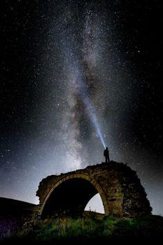 Galaxy through the clouds