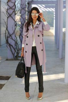lavender + silver #fashion #style