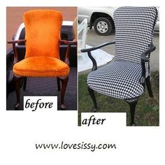 chair makeover reminds me of Alice in Wonderland
