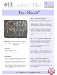 http://www.theartofed.com/2013/05/09/creating-tape-murals-free-lesson-plan-download/