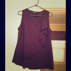 Black Apt 9 top Black sleeveless Apt 9 top.  This top goes with skirts, pants, jeans.  Very comfy. Apt. 9 Tops Blouses