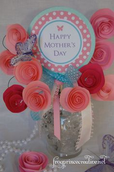 Mother's Day Free Printable roses to make www.frogprincepaperie.com