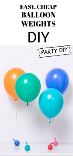 Simple, Easy and Inexpensive Balloon Weights Tutorial Easy Simple Cheap Balloon Weights DIY Tutorial Balloon Decorations Without Helium, Balloon Backdrop, Balloon Centerpieces, Masquerade Centerpieces, Wedding Centerpieces, Diy Balloon Weight, One Balloon, Helium Balloons, Globes
