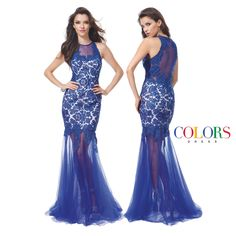 Sheer Drama! COLORS DRESS Style 1176 #prom #gown #formal #couture #fashion