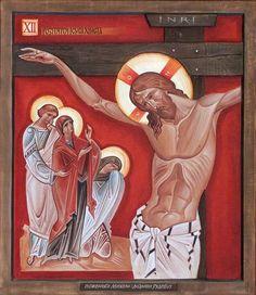 Religious Images, Religious Icons, Religious Art, Byzantine Icons, Byzantine Art, Jesus On The Cross, Catholic Art, Jesus Is Lord, Orthodox Icons