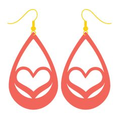 Use your Cricut to make these trendy faux suede earrings — sweet hearts that are perfect for Valentine's Day. An easy Valentine's Day jewelry project. Diy Leather Earrings, Diy Earrings, Leather Jewelry, Leather Craft, Red Jewelry, Amber Jewelry, Jewelry Crafts, Fashion Jewelry, Indian Jewelry