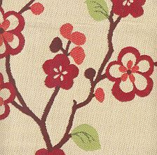 Haiku Cherry -- great punch of color for an outdoor room. Exclusively for Lane Venture and 100% Sunbrella.
