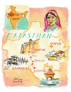 Map of Rajasthan - Heather Gatley
