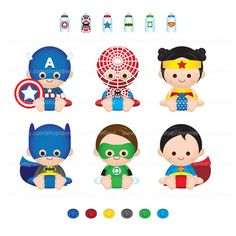 super heroes baby shower - Buscar con Google