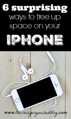 6 top ways to free up space on your iphone and NONE of them include deleting apps!   Take a look at these surprising tips & tricks!   iphone, android, space, apps, full, delete, smart phone, etc!