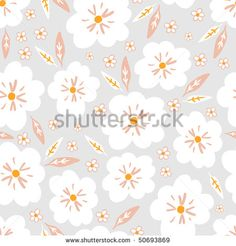 light pattern with white flowers