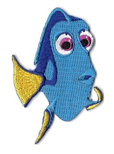 Dory - Finding Dory - Disney - Nemo - Embroidered Iron On Applique Patch - B #Unbranded