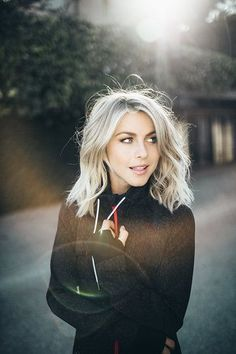 Ulianne Hough With Platinum Blonde Hair