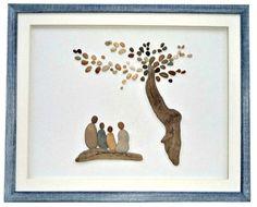 """50 Likes, 7 Comments - Pebble Art Dream (@pebbleartdream) on Instagram: """"Custom order - housewarming gift for family of 4 #pebbleart #handmadegifts #homedecor #newhomegift…"""""""