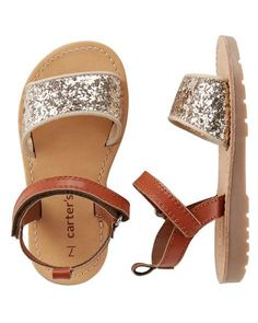 Baby Girl Carter's Glitter Sandals | Carters.com #babygirloutfits