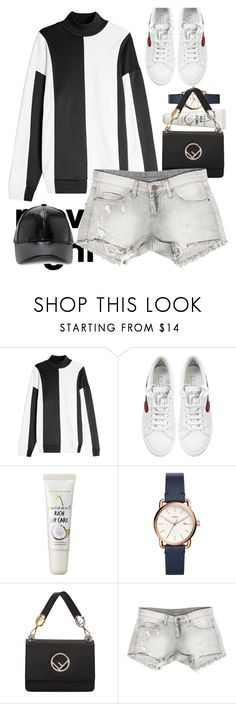 """""""📹"""" by heremyworld ❤ liked on Polyvore featuring Marques'Almeida, Marc Jacobs, too cool for school, FOSSIL, Fendi, Sans Souci, Forever 21 and moviesnight"""