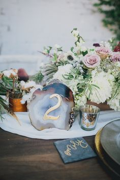 geometric, watercolor, jewel tone winter wedding inspiration
