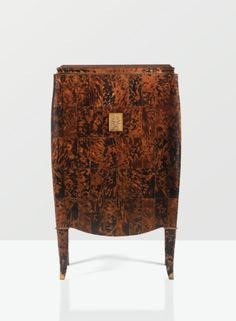 Mid-Century Oak, Turtleshell, and Bronze Cabinet (c.1955) by Jules Leleu, France