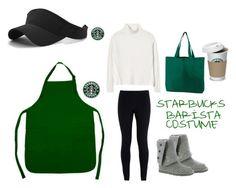 """Starbucks Barista Costume☕️"" by july37baby on Polyvore featuring NIKE, Rebecca Taylor and UGG Australia"
