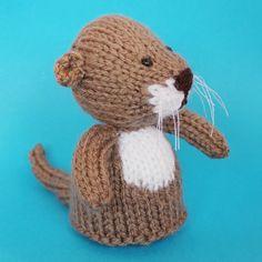 Otter Toy Knitting Pattern PDF