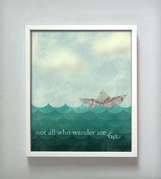 All Who Wander Print | Shop New Products | Gus + Lula |  This makes me smile