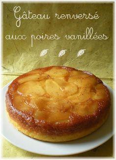 gâteau renversé aux poires vanillées