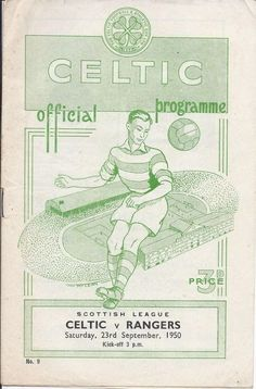 Celtic v Rangers Scottish League 1950/51