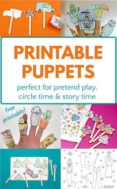 Circle Time Activities, Fun Activities For Toddlers, Literacy Skills, Early Literacy, Puppets For Kids, Dramatic Play Centers, Bookmarks Kids, Best Children Books, Speech Therapy Activities