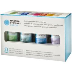 Silver glitz curl grass bush fruit punch crafts and jets for Martha stewart glass paint instructions