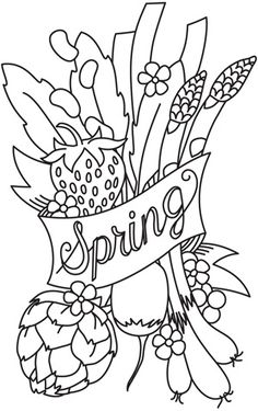 Springtime Bounty | Urban Threads: Unique and Awesome Embroidery Designs