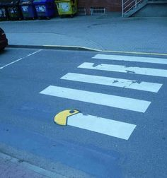 Pac-man street art - love it!