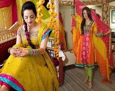 Amazing Bridal Mehndi Dresses