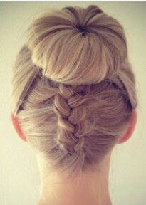 Hair buns and braids - looks fine for highland dancing!