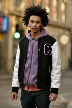 varsity jacket and hoodie