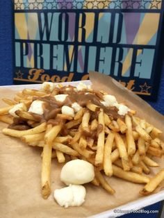 Poutine with Gravy and Cheese Curds at All-Star Movies Resort