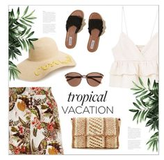 """Welcome to Paradise: Tropical Vacation"" by bliznec ❤ liked on Polyvore featuring River Island, MANGO, BP., Helen Kaminski, Hollister Co., Witchery, polyvoreeditorial, polyvorecontest and TropicalVacation"