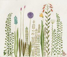 Watercolor garden ~ artist Zuhal Kanar #art #journal